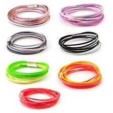 Shiny Multi Strand Two Wrap Bracelet Magnetic Clasps