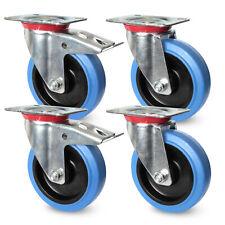 1 SET in acciaio inox ruoli di trasporto 80 100 125 mm poliammide RUOTA pesanti ruoli