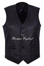 Men New Party Fashion Waistcoats Stylish Black Western Style 100% Leather 5226