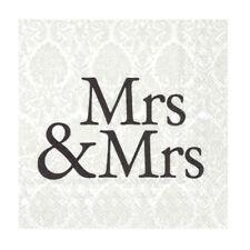 Mrs & Mrs Black Paper Napkins Wedding Day Cocktail Party Disposable Serviettes