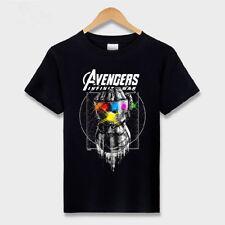 Avengers Infinity War Thanos Infinity Gauntlet maglietta T shirt Tee Kostüm Neu