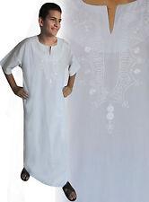 wunderschöner eleganter Moderner Herren Kaftan aus1001 Nacht in weiß KAM00134