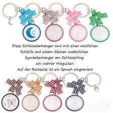 Schlüsselanhänger Haus Engel Glück Freundschaft Auto Geschenk Metall Glas Stern