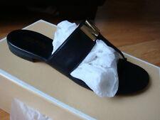 "NIB Women Michael Kors ""Hayley"" Thong Sandals Black sizes 6,6.5"