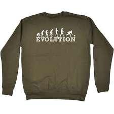 Funny Sweatshirt - Evolution Bowler - Bowling Lawn Bowls Birthday Novelty JUMPER