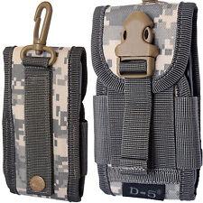 Universal Camuflaje del ejército Camo cinturón de bucle gancho cubierta Funda de teléfono móvil Bolsa