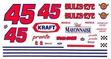 #45 Rich Bickle Patriotic Bulls-Eye 1/24th - 1/43rd Scale Slot Car Decals