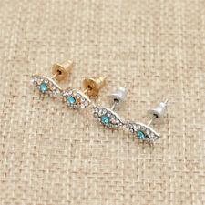 Fashion Women Alloy Gold Silver Earrings Cute Evil Eye Ear Stud Jewelry Gifts