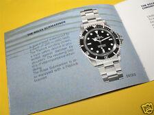 1990 Early Rolex Submariner Sea Dweller Instruction Manual Book (RARE)