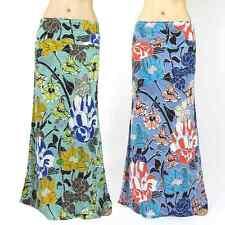 Plus Size & Regular Floral long maxi skirt S M L & 1XL 2XL 3XL  Blue & Mint