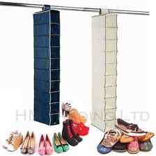 Nuevo 10 Bolsillos Colgante Zapato Ropa Armario De Almacenamiento Rack Estante Colgador Organizador
