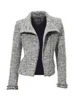 Best Connection Blazer Jacke Gr.40 NEU Damen Biker Style Silber/Grau Bouclé