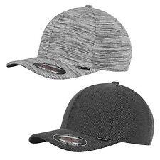 FLEXFIT ® STRIPES HERINGBONE MELANGE CAP 6277 black heather grey  Baseball Kappe