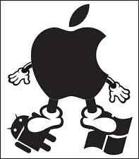 Die cut decals Apple MAC steps on Windows Android vinyl sticker laptop design