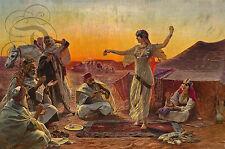 REPRO TOILE OTTY PILNY LE MEILLEUR DANSEUR 1913 EGYPTE SUR PAPIER 310 OU 190 GRS