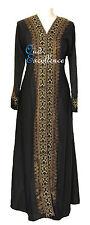 Golden Pattern Nidha with Open Design - Arab Abaya Jilbab Kaftan Dress Kimono
