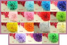 PomPom Flowers Tissue Paper Hanging Decoration Celebration Party Holiday Wedding