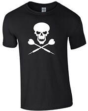Dart Totenkopf T-Shirt scull Dartscheibe Dartpfeil darten Geschenk Textildr M172