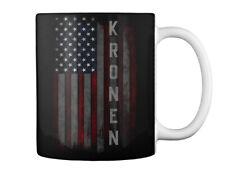 Kronen Family American Flag Gift Coffee Mug
