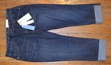 f1ef785f9d69f Simply Vera VERA WANG Boyfriend Roll Cuff Capri Jean Dark Denim Cropped  Jeans