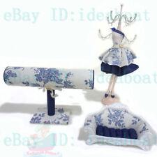 SET Blue-White dress Mannequin Sofa T-bar Display Holder MultiPurpose Organisers