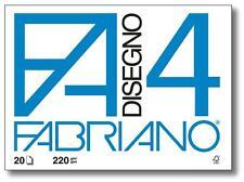 FABRIANO F4 Album da disegno, 4 angoli 220gr. 33x48cm. 20Fg. LISCIO, Sketchbook