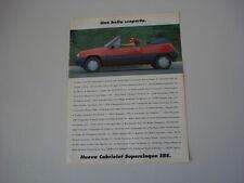 advertising Pubblicità 1990 RENAULT SUPER 5 CABRIOLET