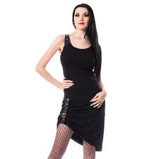 Chemical Black Gothic Goth Punk Okkult Minikleid - Emma Kunstleder Schnallen