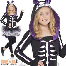 Skelly Cat Skeleton Tutu Girls Fancy Dress Up Ages 7-15 Halloween Animal Costume