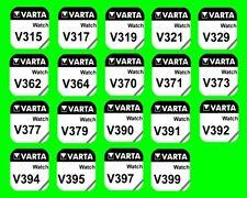 Wählen Sie selbst die Stückzahl 1x, 2x, 3x, 4x, 5x, aus 19 Typen Varta V315-V399
