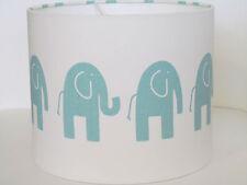 NEW Handmade Pale Blue Elephant Nursery Lampshade Lightshade Boys Childrens Baby
