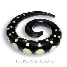 6mm o 8mm dehnungssichel espiral hoz cuerno expansor oreja ear piercing 087
