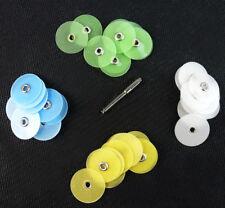 40Pcs Dental Composite Finishing Polishing Disc Kit metal bush [USA] 12/14/16mm