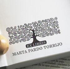 EX LIBRIS, SELLO EXLIBRIS PERSONALIZADO, ARBOL DE LA VIDA KLIMT, LIBRO, LIBRERIA