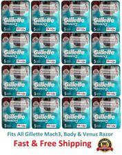 Gillette Mach 3 Razor blades Men Refills Cartridges fits M3 Power 5 10 20 40 80