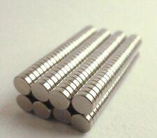 Rare Earth Magnet 3mm x 2mm Round Neodymium N50