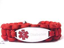 Medizinisches Notfall Armband-Paracord Armband-Graviert-Asthma-Verstellbar