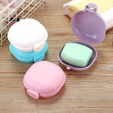 Travel Soap Case Holder Dish Box Plastic Container Dispenser Dish Round Bar