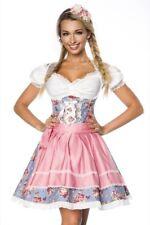 Dirndl robe femme sexy décolletée denim arc tradition rose uy 70001 blanc