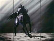 Horse Tile Backsplash McElroy Equine Art Ceramic Mural KMA020