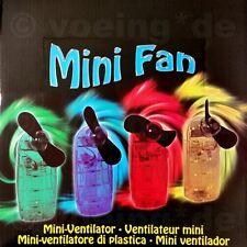 Mini mano-ventilador mano ventilador mini fan mini ventilador en 4 colores 9 x 4 cm