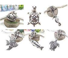 Tropical Fish Sea Turtle Seahorse Ocean Theme Bead for European Charm Bracelet