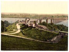 GRANDE VECCHIA FOTOGRAFIA/FOTO Affilata, Il Severn Ponte, Inghilterra SUPERBO
