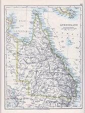 1912 MAP ~ AUSTRALIA ~ QUEENSLAND NEW GUINEA