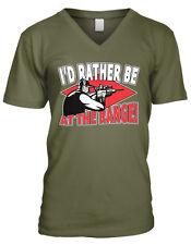 I'd Rather Be At The Range Gun Shooting Target Scope Fire Men's V-Neck T-Shirt