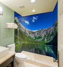 3D Alpine Lake View 112 WallPaper Bathroom Print Decal Wall Deco AJ WALLPAPER CA