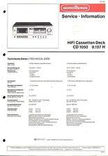 Nordmende Original Service Manual für  CD 1050