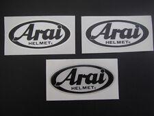 2 ARAI HELMET STICKERS/DECALS - KARTING - MOTORSPORT - MOTORCYCLING