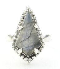 Lover's Coffin Ring, Sterling Silver Labradorite Ring, Gemstone, 925 Silver