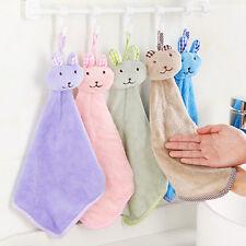 Baby Hand Towel Cartoon Rabbit Plush Kitchen Soft Hanging Bath Wipe Towel SL